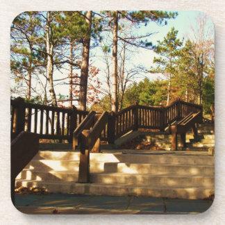 Leonard Harrison St Pk Overlook Stairs Drink Coaster