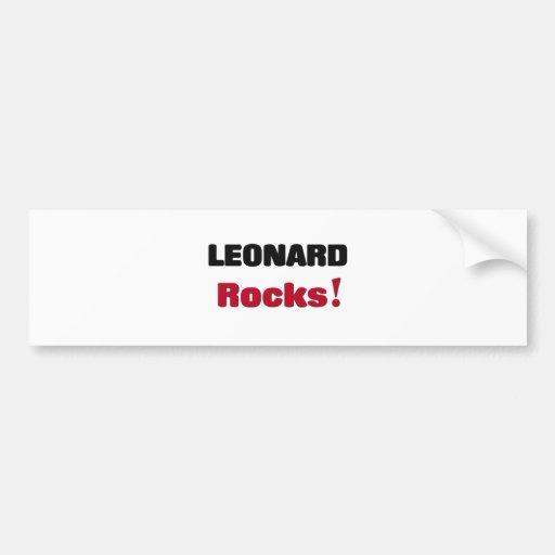 Leonard Rocks Bumper Stickers