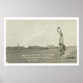 Leonard Stroud trick riding. Poster