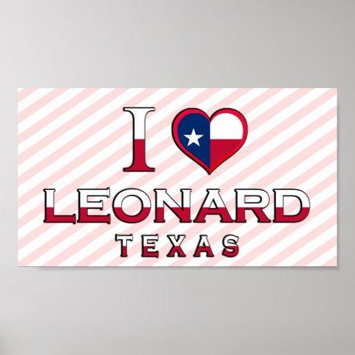 Leonard, Tejas Poster