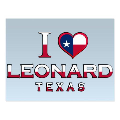 Leonard, Tejas Tarjeta Postal