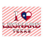 Leonard, Texas Postcard