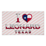 Leonard, Texas Posters