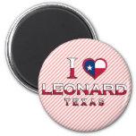 Leonard, Texas Refrigerator Magnet