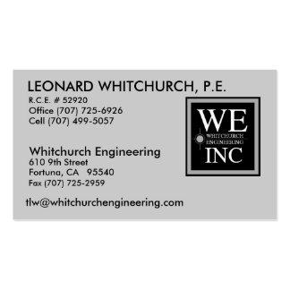 Leonard Whitchurch Business Card Templates