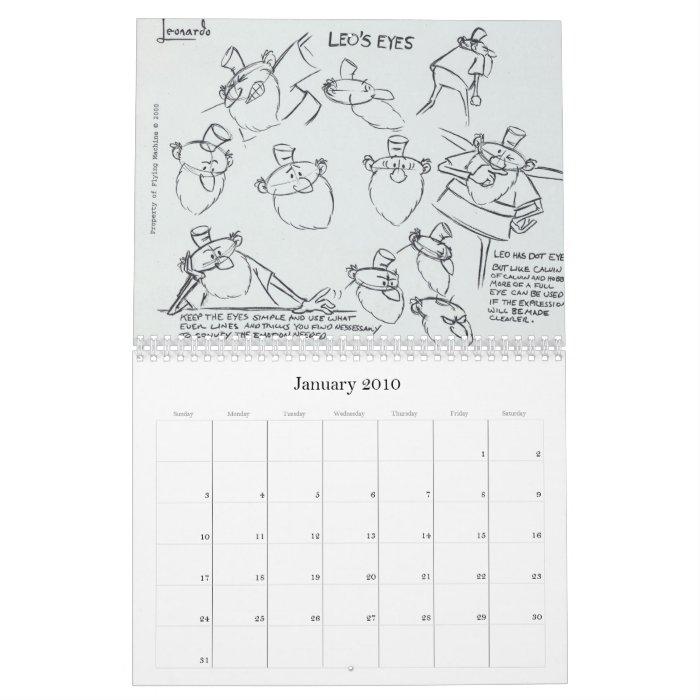 Leonardo 2010 model sheet calendar