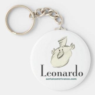 Leonardo Basic Round Button Keychain