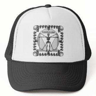 Leonardo da skull 3 hat