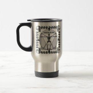 Leonardo da skull 3 mug