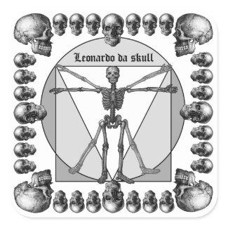 Leonardo da skull 3 sticker
