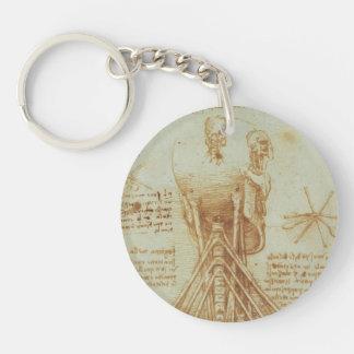 Leonardo da Vinci- Anatomy of the Neck Keychain