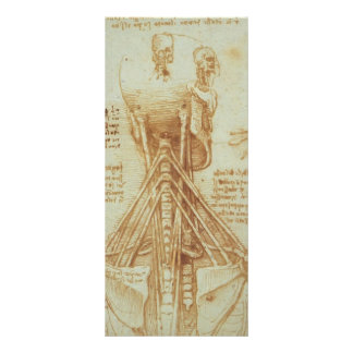 Leonardo da Vinci- Anatomy of the Neck Rack Card Template