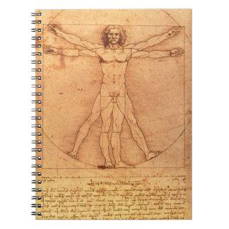 Leonardo Da Vinci Anatomy Study of human body Spiral Notebook