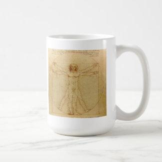 Leonardo da Vinci and Vitruvian Man Coffee Mug