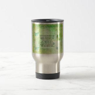 Leonardo da Vinci  Animal Rights quote vegan 15 Oz Stainless Steel Travel Mug