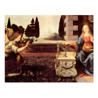 Leonardo da Vinci - Announcement to Maria Postcard