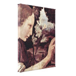 Leonardo da Vinci - Annunciation angel Canvas Print