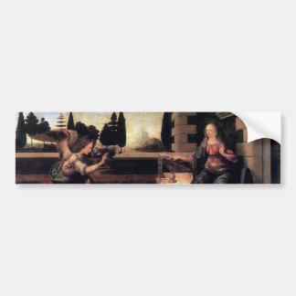 Leonardo Da Vinci Annunciation Bumper Stickers