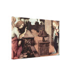 Leonardo da Vinci - Annunciation Detail Stretched Canvas Print