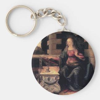 Leonardo Da Vinci Annunciation Key Chain