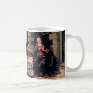 Leonardo Da Vinci Annunciation Classic White Coffee Mug