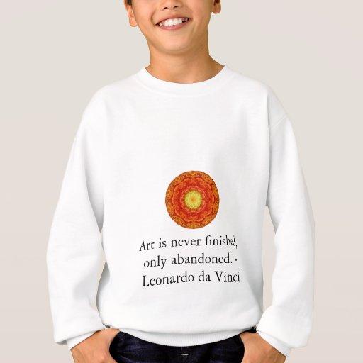 Leonardo da Vinci art quote Sweatshirt