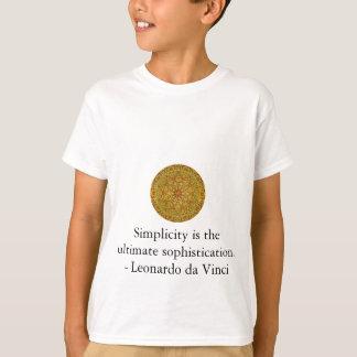 Leonardo da Vinci art quote T-Shirt