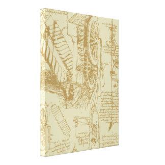 Leonardo Da Vinci Artwork Gallery Wrapped Canvas