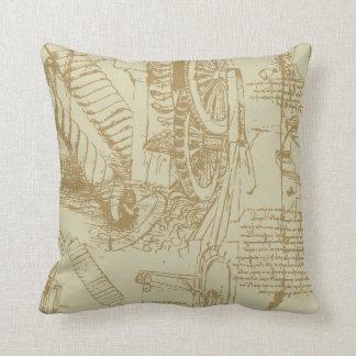 Leonardo Da Vinci Artwork Throw Pillows