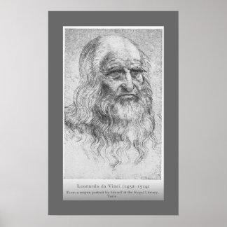 Leonardo da Vinci - autorretrato Póster