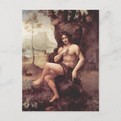 ART oenologique Leonardo_da_vinci_bachus_1511_1515_technique_holz_postcard-p239955078268844321qibm_400