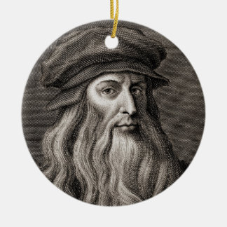 Leonardo da Vinci Ceramic Ornament