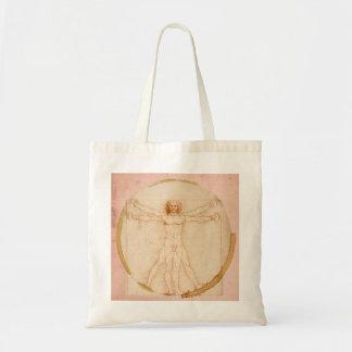 Leonardo Da Vinci-Coffee Man Tote Bag