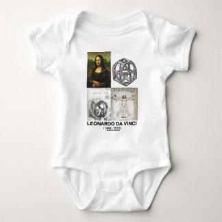 Leonardo da Vinci Collage (Collection of Works) Baby Bodysuit