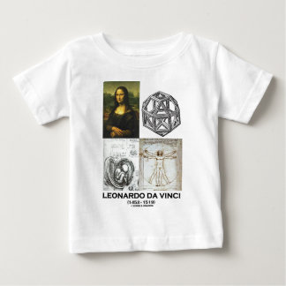 Leonardo da Vinci Collage (Collection of Works) Baby T-Shirt