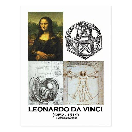Leonardo da Vinci Collage (Collection of Works) Post Card