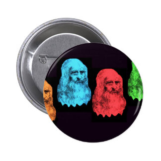 Leonardo Da Vinci Collage Pinback Button
