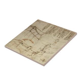 Leonardo da Vinci- Design for a Flying Machine Ceramic Tiles