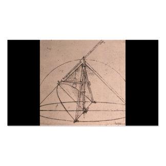 Leonardo da Vinci, design for a parabolic compass Double-Sided Standard Business Cards (Pack Of 100)
