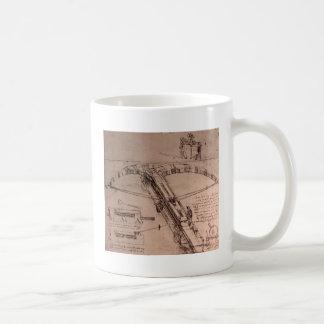 Leonardo da Vinci, design for an enormous crossbow Classic White Coffee Mug