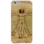 Leonardo da Vinci - dibujo del hombre de Vitruvian Funda De iPhone 6 Plus Barely There