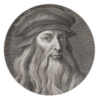 Leonardo da Vinci Dinner Plate