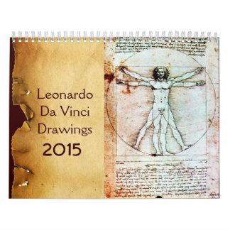 LEONARDO DA VINCI  Drawings 2015 Calendar