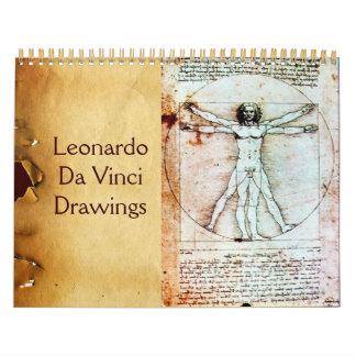 LEONARDO DA VINCI  Drawings 2017 Calendar