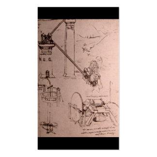 Leonardo da Vinci, drawings of machines Business Card Template