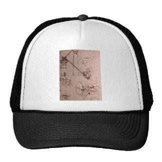 Leonardo da Vinci, drawings of machines Trucker Hat