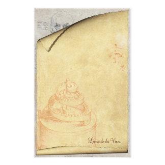 Leonardo da Vinci - efectos de escritorio clásicos Personalized Stationery