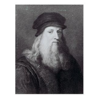 Leonardo da Vinci, engraved by Raphael Postcard