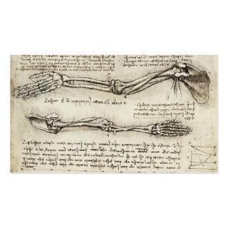Leonardo da Vinci: Estudios del brazo por el bícep Plantilla De Tarjeta Personal