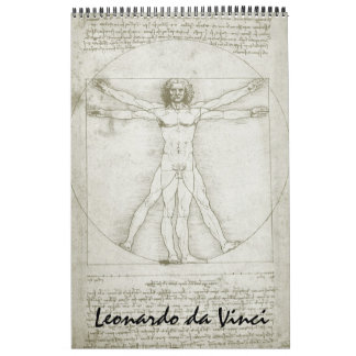 Leonardo da Vinci Fine Art Sketches and Drawings Calendar